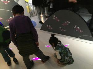 デジタルを使った体験展示コーナー